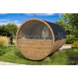 Barrel sauna DELUX 1 with half-moon window