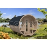 Barrel sauna REY 7 with two rooms