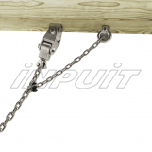 Swing hook 220 mm for group swings, stainless steel