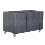 Large flower-box with casters