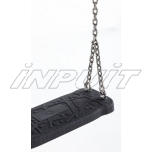 Rubber swing seat CURVE with chains