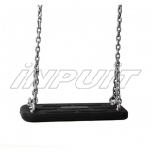 Rubber swing seat with chain