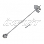 Metal anchor for fastening the swing and playground