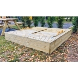 Sandbox with bench 2000 x 2000 mm