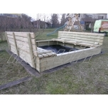 Big sandbox with seat 2700 x 2700 mm