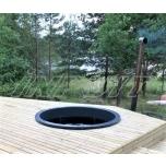 Hot tub 1000 l fiberglass, terrace set