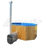 Hot tub 1600 l fiberglass, external heater