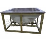 Hot tub 1650 l acrylic, terrace set