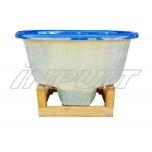 Hot tub 800 l fiberglass, terrace set
