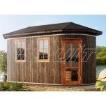 Oval sauna ELBRUS with three rooms