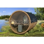 Barrel sauna DELUX 2 with fullmoon window