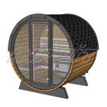 Barrel sauna/steam room RON 3 with fullmoon window