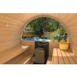 Barrel sauna DELUX 3 half-moon window