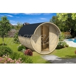 Barrel sauna REY 6 with two rooms