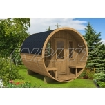 Barrel sauna REY 5 with terrace