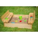 Sandbox with bench 1240 x 1240 mm