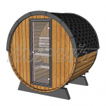 Barrel sauna/steam room RON 1 with one room