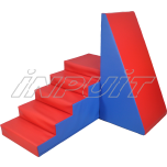 Soft play equipment SET 1 red/blue