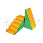 Soft play equipment SET 1 green/orange