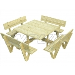 Angular picnic table ARTHUR