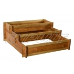 Three level raised bed for vegetables