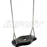 Rubber swing seat FORTO with chains
