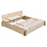 Sandbox with cover CUCIO 1200 x 1200 mm