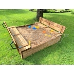 Sandbox with bench 1500 x 1500 mm