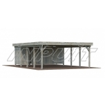 Carport KARL 40,6 m2 extension