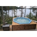Hot tub 1200 l fiberglass, terrace set