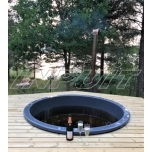 Hot tub 1500 l fiberglass, terrace set