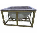Hot tub 1650 l acrylic, terrace set