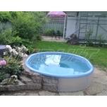 Hot tub 1700 l fiberglass, terrace set