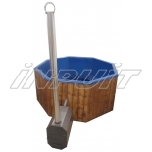 Hot tub 2300 l fiberglass, external heater