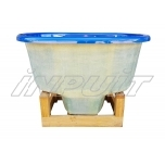Hot tub 800 l fiberglass, terrace set