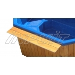 Hot tub drink plate holder