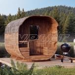 Barrel sauna ARARAT with half-moon window
