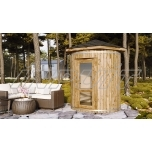 Barrel sauna/steam room MAKALU with one room