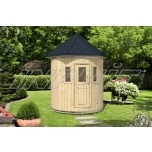 Barrel sauna/steam room FOXY with one room