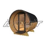 Barrel sauna DELUX 5 with fullmoon window