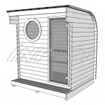 Barrel sauna/steam room LEON with one room
