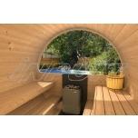 Barrel sauna DELUX 3 half-moon window
